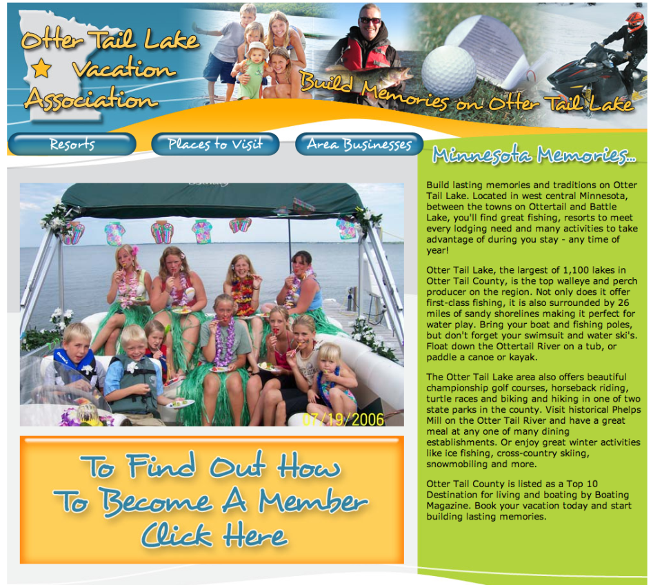 Otter Tail Lake Vacation Association – Etomite Site