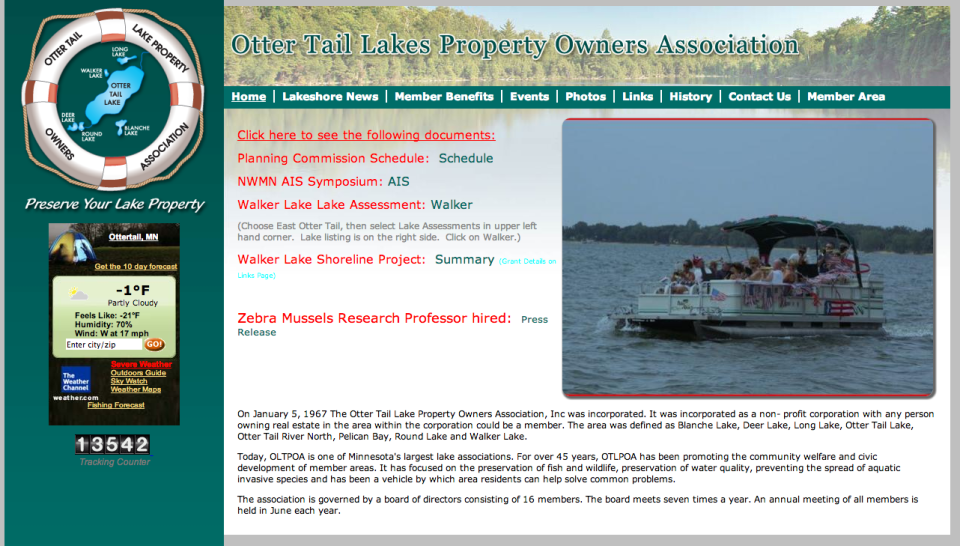 Otter Tail Lake Property Owners Association _ Etomite Site