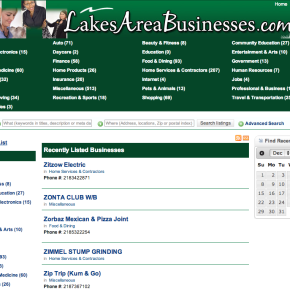 Lakes Area Business Directory