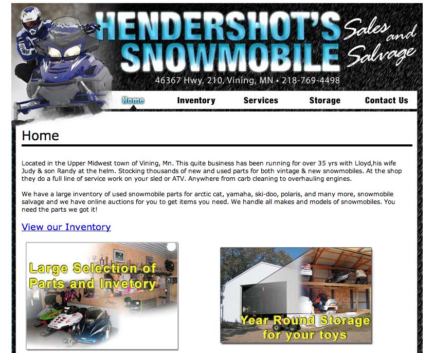 Hendershot's Snowmobile – Etomite Site