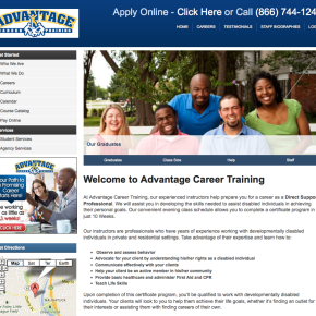 Advantage Career Training – WordPress Site